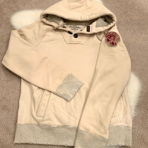 Abercrombie & Fitch XL ivory hooded pullover